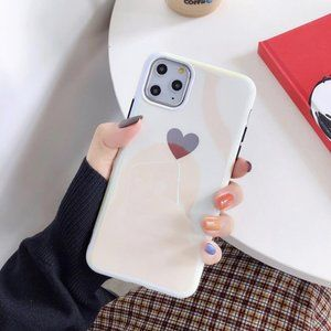 NEW iPhone 11 Pro/Max Flossy Heart Case